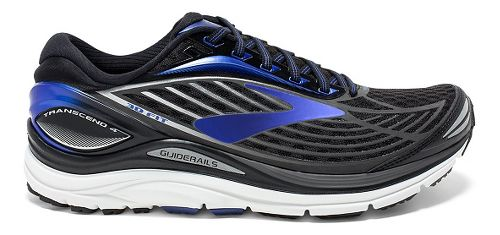 Mens Brooks Transcend 4 Running Shoe - Black/Blue 9.5