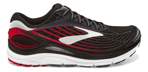Mens Brooks Transcend 4 Running Shoe - Black/Red 11