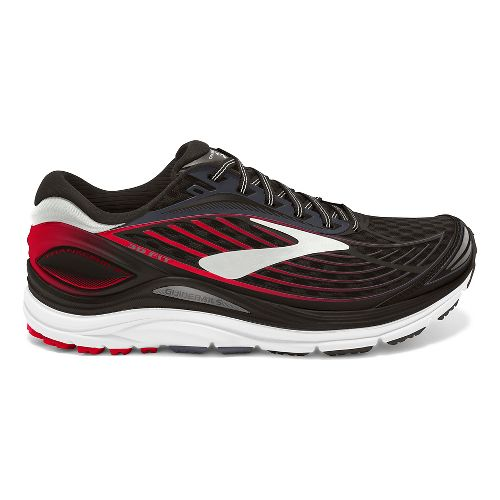 Mens Brooks Transcend 4 Running Shoe - Black/Red 10.5
