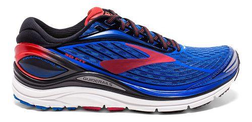 Mens Brooks Transcend 4 Running Shoe - Blue/Red 7.5
