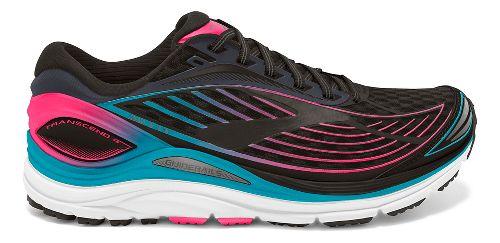 Womens Brooks Transcend 4 Running Shoe - Black/Teal 9