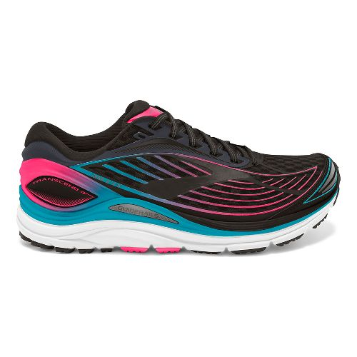 Womens Brooks Transcend 4 Running Shoe - Black/Teal 8.5