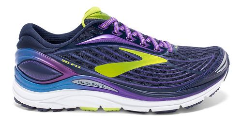 Womens Brooks Transcend 4 Running Shoe - Peacoat/Purple 12