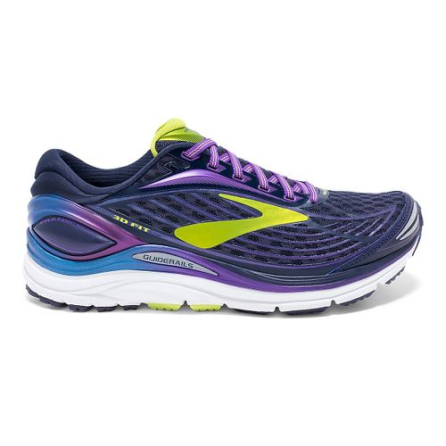 Womens Brooks Transcend 4 Running Shoe - Peacoat/Purple 9.5