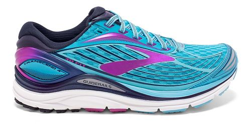 Womens Brooks Transcend 4 Running Shoe - Blue/Purple 6.5