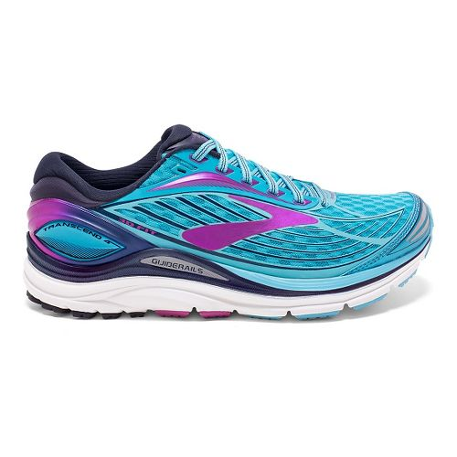 Womens Brooks Transcend 4 Running Shoe - Blue/Purple 5