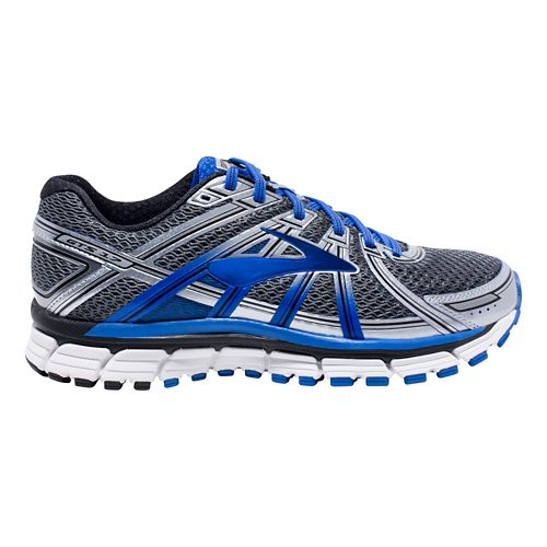Mens Brooks Adrenaline GTS 17 Running Shoe - Anthracite/Blue 10.5