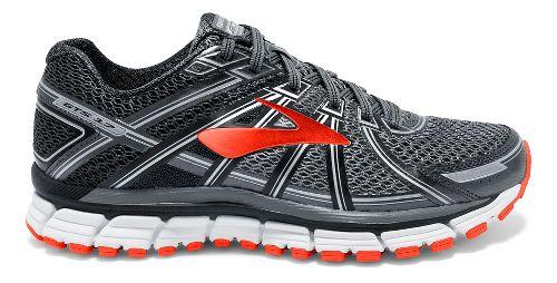 Mens Brooks Adrenaline GTS 17 Running Shoe - Black/Red Orange 11.5