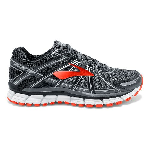 Mens Brooks Adrenaline GTS 17 Running Shoe - Black/Red Orange 7.5