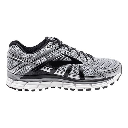 Mens Brooks Adrenaline GTS 17 Running Shoe - Silver/Black 7