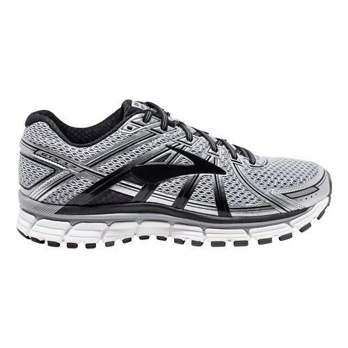 Mens Brooks Adrenaline GTS 17 Running Shoe - Silver/Black 7.5