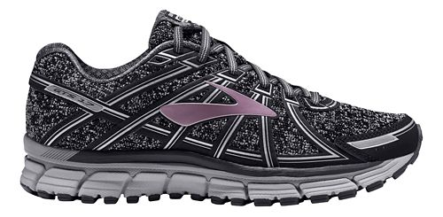 Womens Brooks Adrenaline GTS 17 Running Shoe - Charcoal/Rose Gold 6