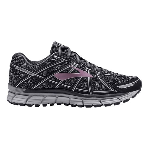 Womens Brooks Adrenaline GTS 17 Running Shoe - Charcoal/Rose Gold 9.5