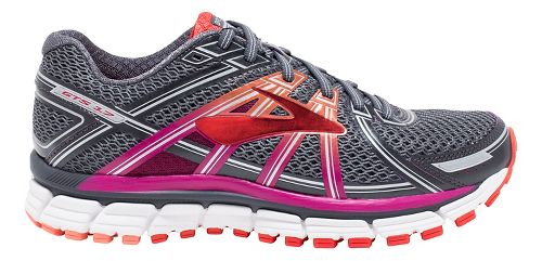 Womens Brooks Adrenaline GTS 17 Running Shoe - Anthracite/Fuchsia 7.5