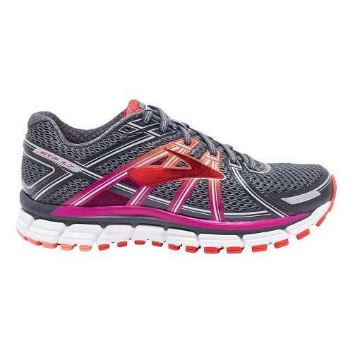 Womens Brooks Adrenaline GTS 17 Running Shoe - Anthracite/Fuchsia 7