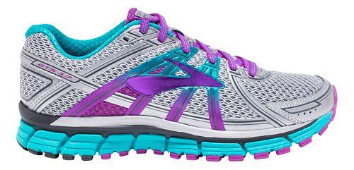 Womens Brooks Adrenaline GTS 17 Running Shoe - Silver/Purple 10