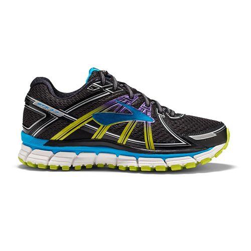 Womens Brooks Adrenaline GTS 17 Running Shoe - Black/Hawaiian Ocean 9