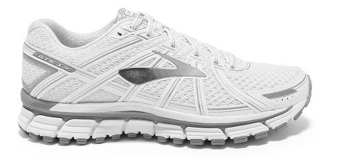 Womens Brooks Adrenaline GTS 17 Running Shoe - White/Silver 5