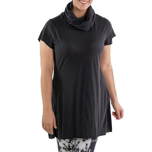 Katie K Bridge Tunic Short Sleeve Technical Tops - Black L