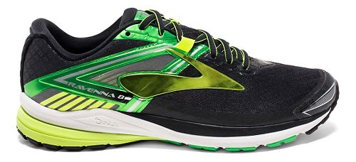 Mens Brooks Ravenna 8 Running Shoe - Black/Classic Green 8