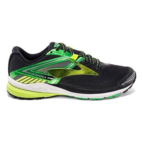 Mens Brooks Ravenna 8 Running Shoe - Black/Classic Green 15