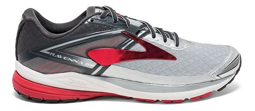 Mens Brooks Ravenna 8 Running Shoe - Silver/Red 12.5