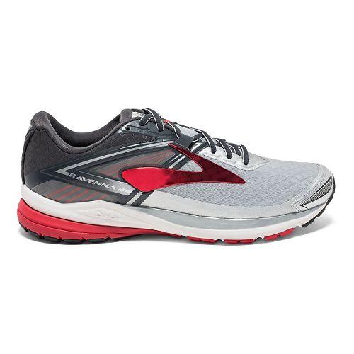 Mens Brooks Ravenna 8 Running Shoe - Silver/Red 8.5