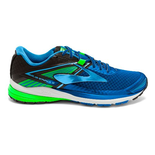 Mens Brooks Ravenna 8 Running Shoe - Blue/Green 10.5