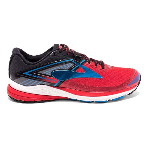 Mens Brooks Ravenna 8 Running Shoe - High Risk Red/Black 7.5