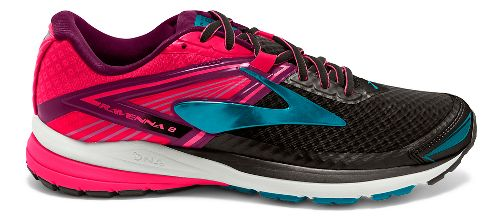 Womens Brooks Ravenna 8 Running Shoe - Black/Pink 6