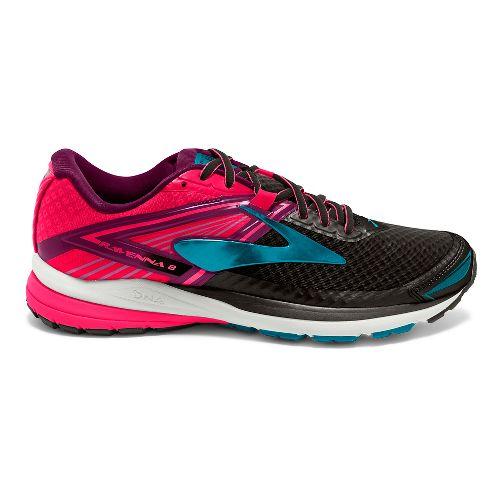Womens Brooks Ravenna 8 Running Shoe - Black/Pink 10.5