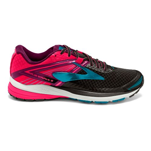 Womens Brooks Ravenna 8 Running Shoe - Black/Pink 8