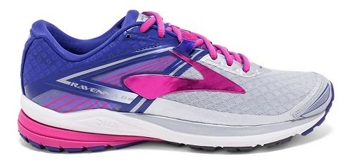 Womens Brooks Ravenna 8 Running Shoe - Silver/Purple 10