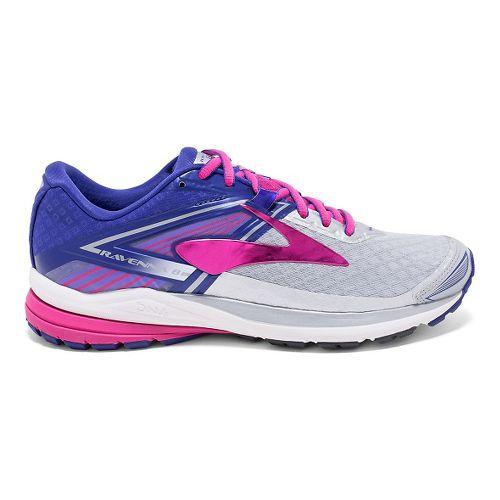 Womens Brooks Ravenna 8 Running Shoe - Silver/Purple 7.5