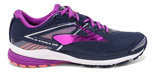 Womens Brooks Ravenna 8 Running Shoe - Peacoat/Purple 9