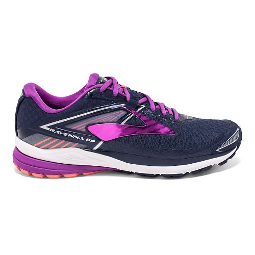 Womens Brooks Ravenna 8 Running Shoe - Peacoat/Purple 8.5