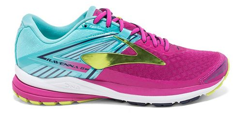 Womens Brooks Ravenna 8 Running Shoe - Very Berry/Aqua 6