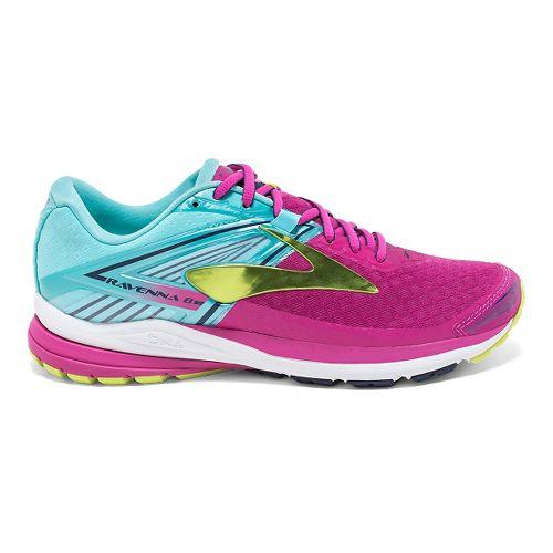 Womens Brooks Ravenna 8 Running Shoe - Very Berry/Aqua 9