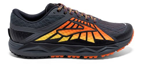 Mens Brooks Caldera Trail Running Shoe - Anthracite/Orange 8.5