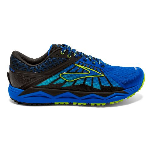 Mens Brooks Caldera Trail Running Shoe - Electric Blue 12.5