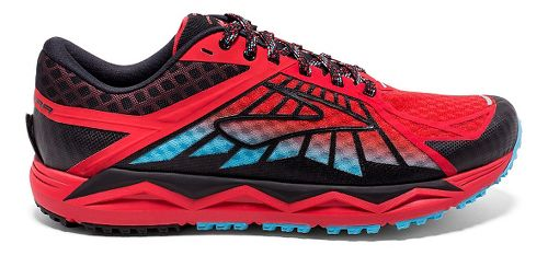 Mens Brooks Caldera Trail Running Shoe - High Risk Red/Black 8