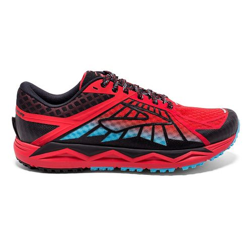 Mens Brooks Caldera Trail Running Shoe - High Risk Red/Black 11