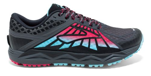 Womens Brooks Caldera Trail Running Shoe - Anthracite/Pink 11