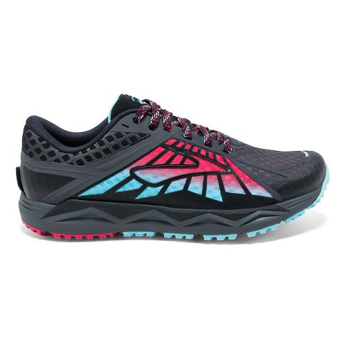 Womens Brooks Caldera Trail Running Shoe - Anthracite/Pink 10