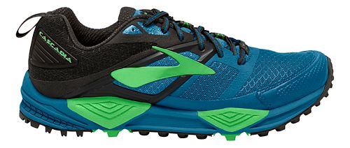 Mens Brooks Cascadia 12 Trail Running Shoe - Blue/Green 11.5