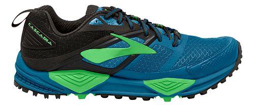 Mens Brooks Cascadia 12 Trail Running Shoe - Blue/Green 8