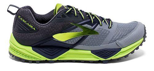Mens Brooks Cascadia 12 Trail Running Shoe - Primer Grey 14