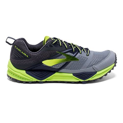 Mens Brooks Cascadia 12 Trail Running Shoe - Primer Grey 9