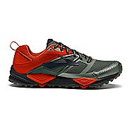 Mens Brooks Cascadia 12 Trail Running Shoe - Olive/Orange 11.5