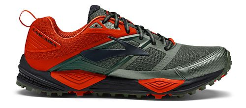 Mens Brooks Cascadia 12 Trail Running Shoe - Olive/Orange 11